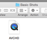 Drag AVCHD to project folder