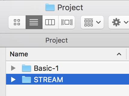 Paste STREAM folder into project folder.