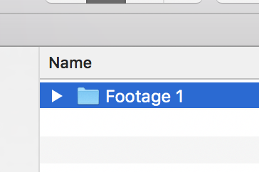 Open Footage Folder in new window