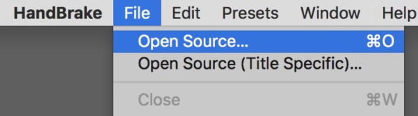 Under File menu choose Open Source.