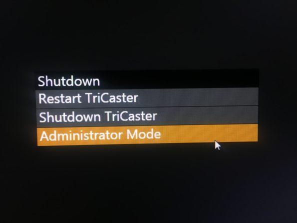 Administrator Mode